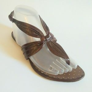 Moschino Cheap & Chic Brown Patent Sandals